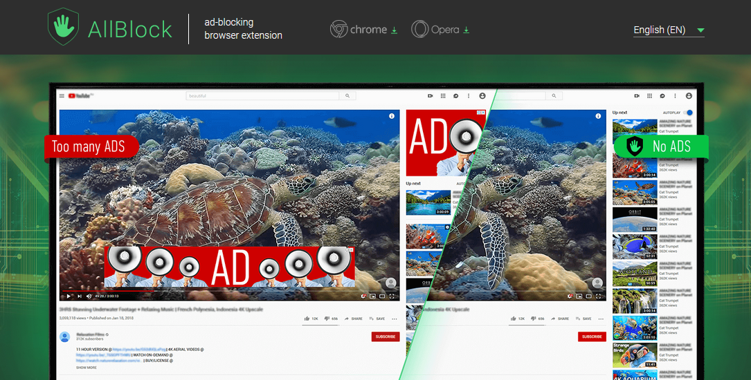 Ad-blocker caught injecting ads in search results